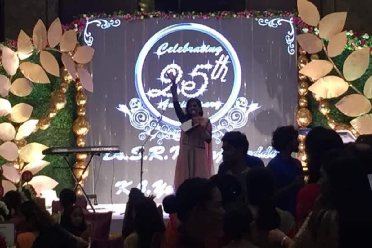 Multilingual MC Reena hosts 25th Wedding anniversary for JC Group chairman
