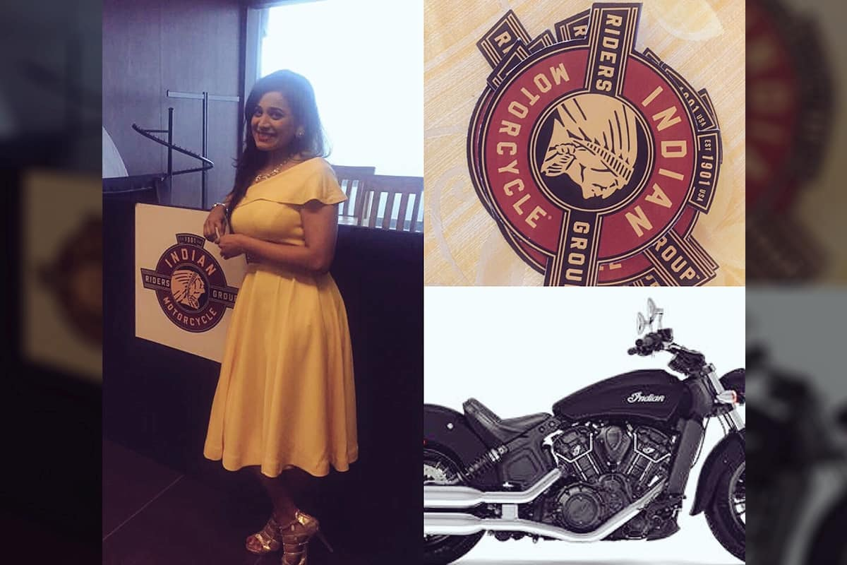 Multilingual MC Reena hosts Indian Motorcycle & Polaris IMRG run 2017