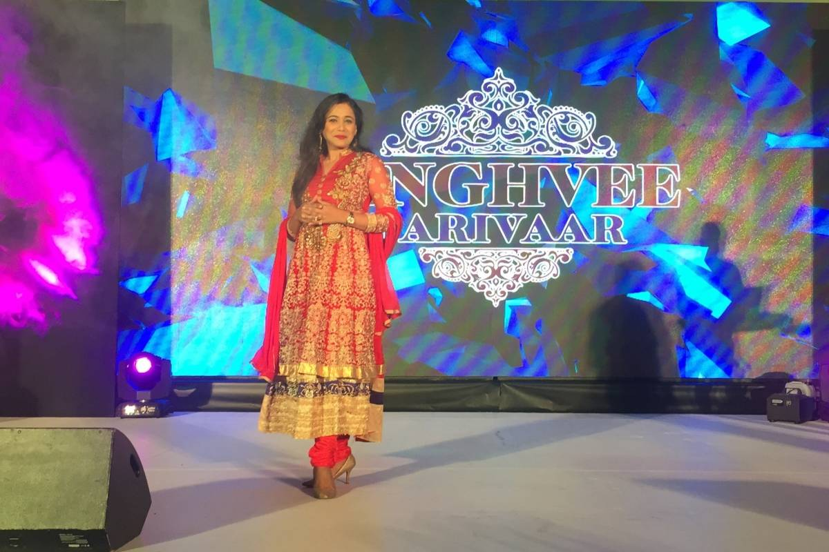 Emcee Reena hosts for Singhvi parivaar