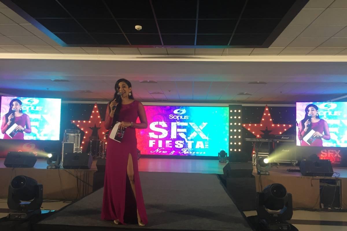 Emcee Reena Dsouza anchors Sonus SFX Fiesta 2017