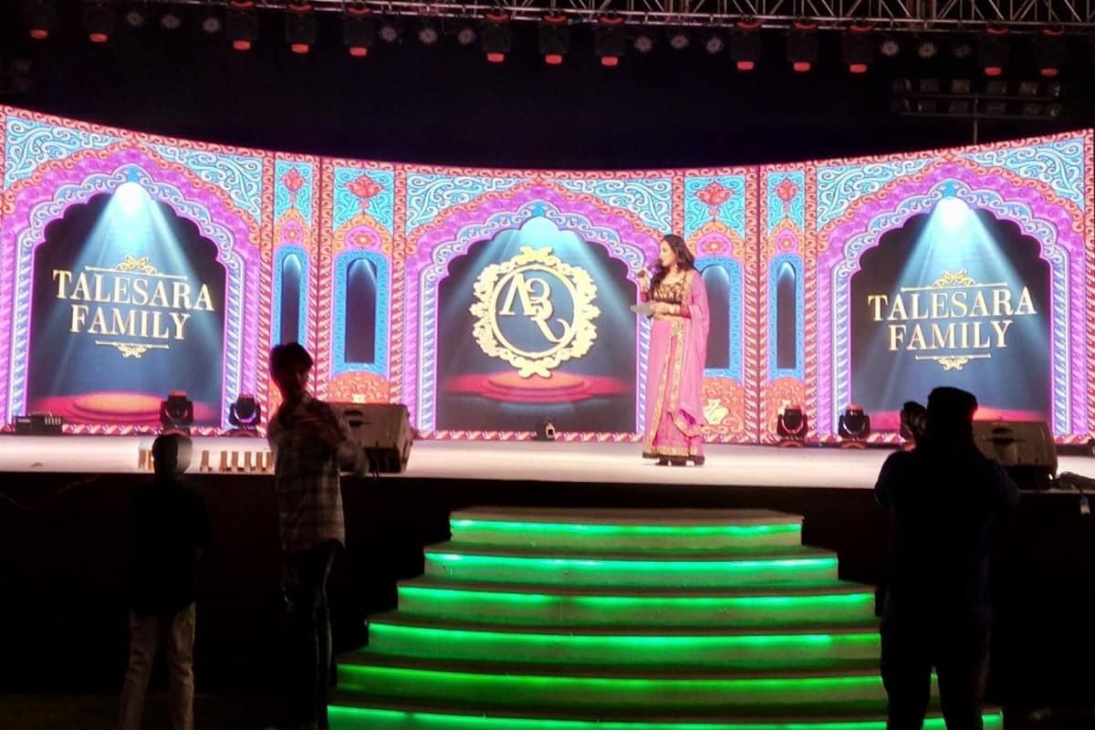 Mumbai's best Anchor Reena Dsouza hosts Talesara parivaar's Sangeet Sandhya