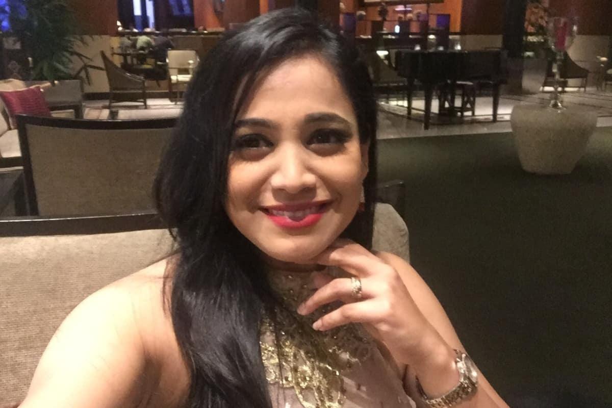 Anchor Reena Compered a Sangeeth event for Kanadigas & Tamilians