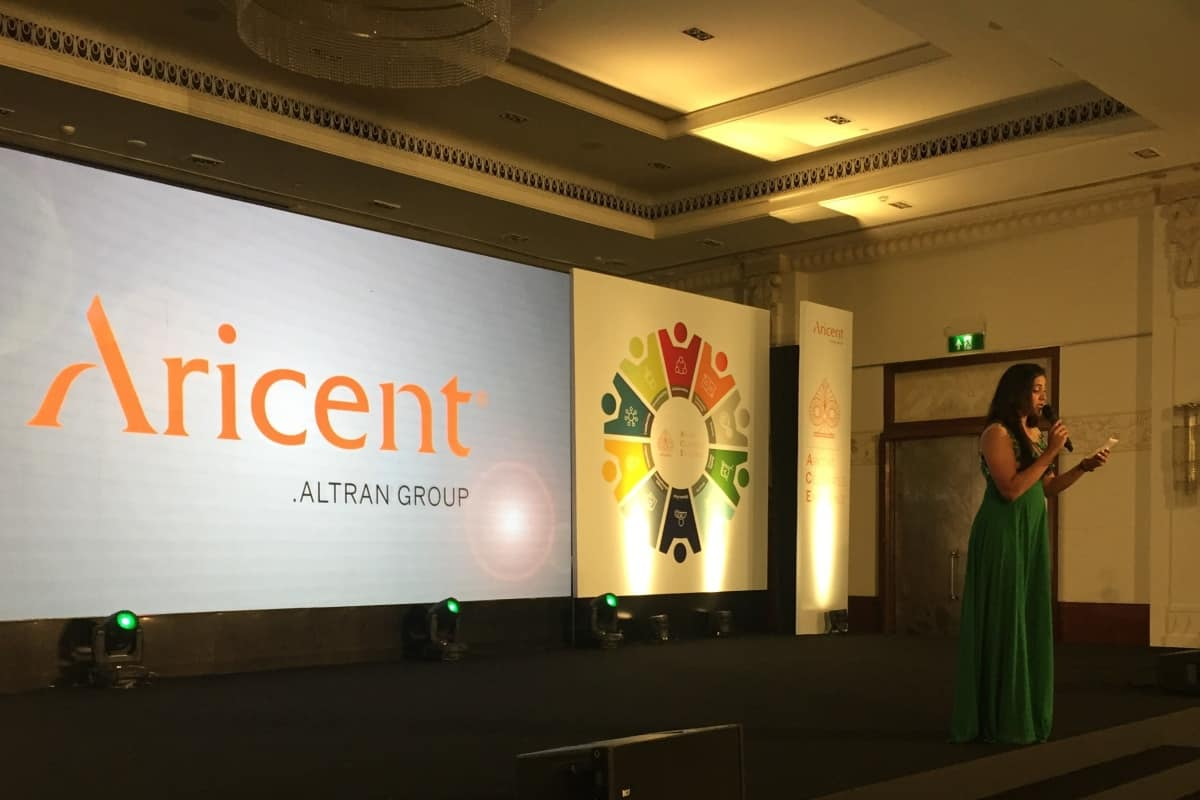 Emcee Reena comperes Aricent Annual Awards 2018