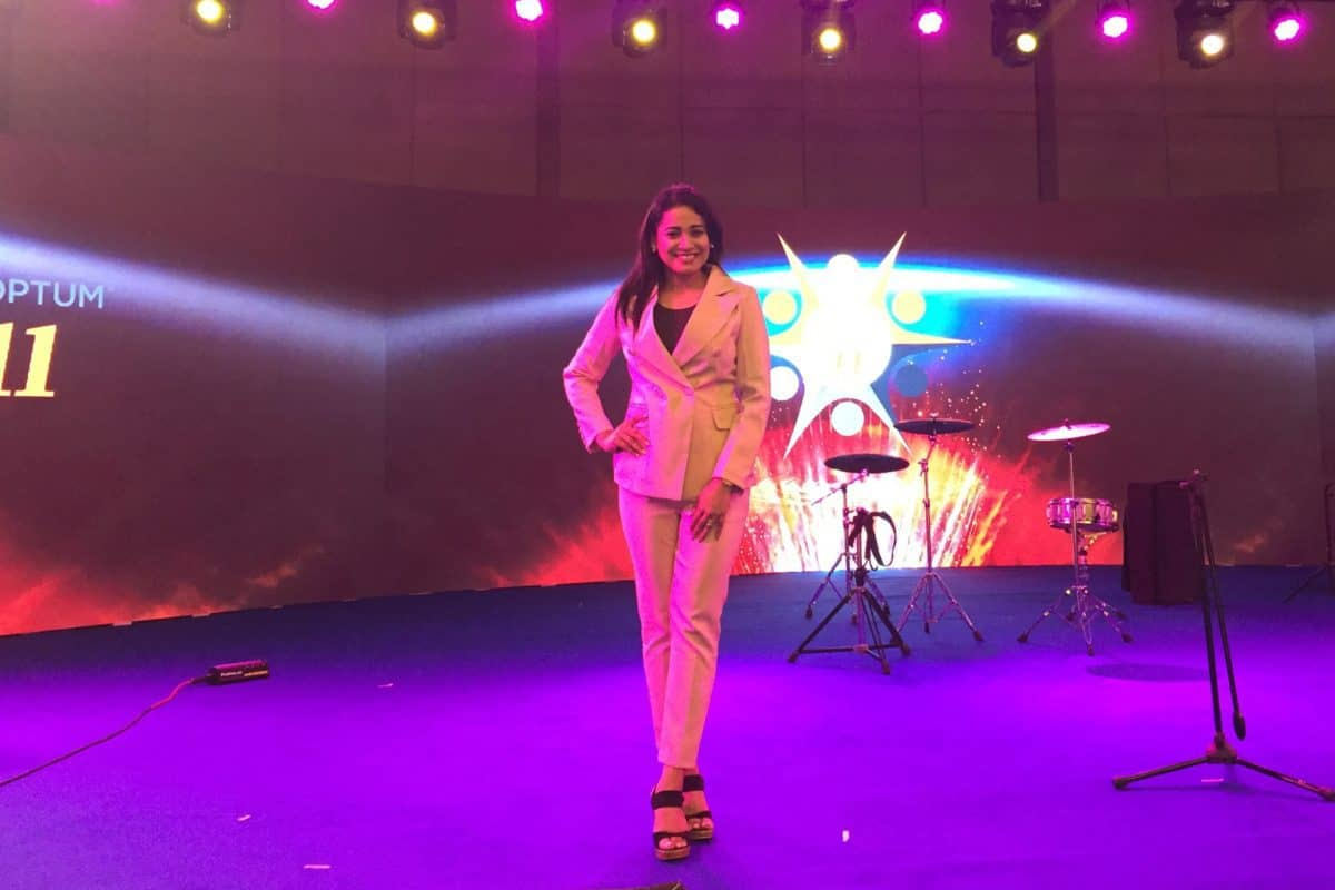Bangalore Anchor Reena Dsouza hosts OPTUM Healthcare United Employee Townhall 2018