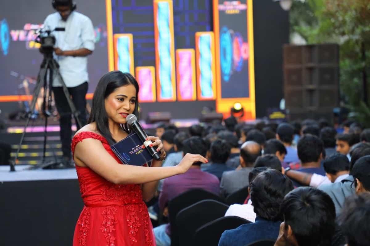 Bangalore Anchor Reena hosts Myntra Jabong Year End Party 2019