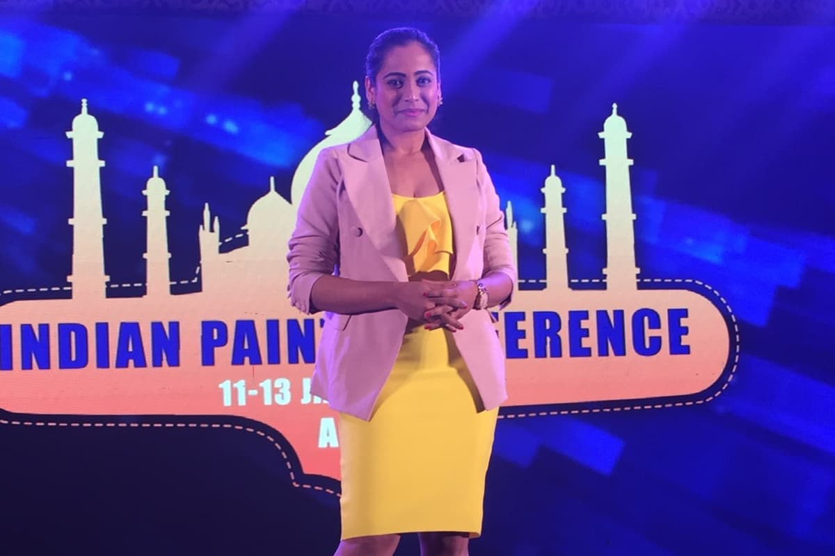 Mc Reena compered 29th Indian paint conference at Jaypee palace in Agra