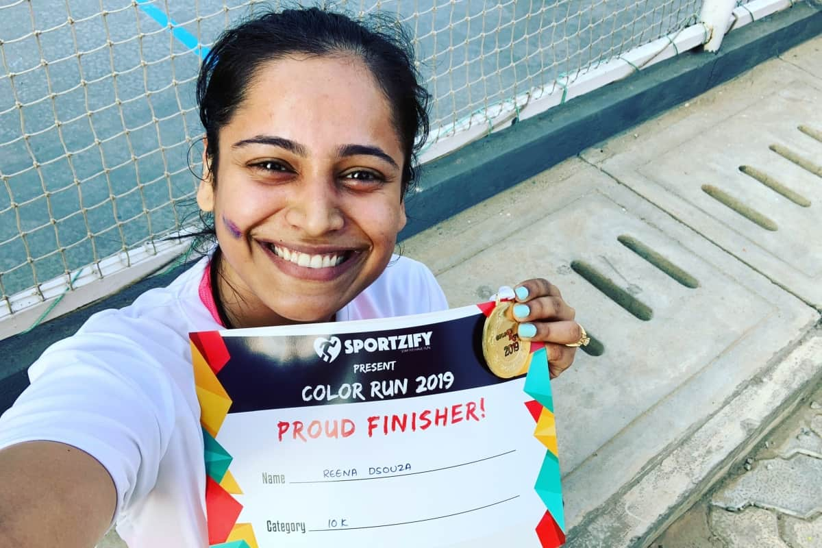 Anchor Reena joins Decathlon Color Run 2019 and completes 10k run