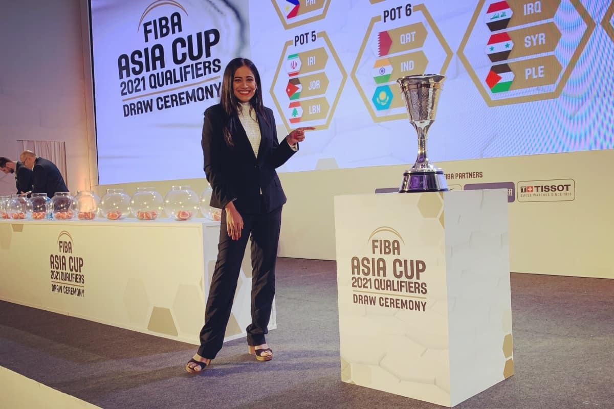 Sports Anchor Reena hosts FIBA Asia Cup 2021 Qualifiers Draw ceremony in Bangalore