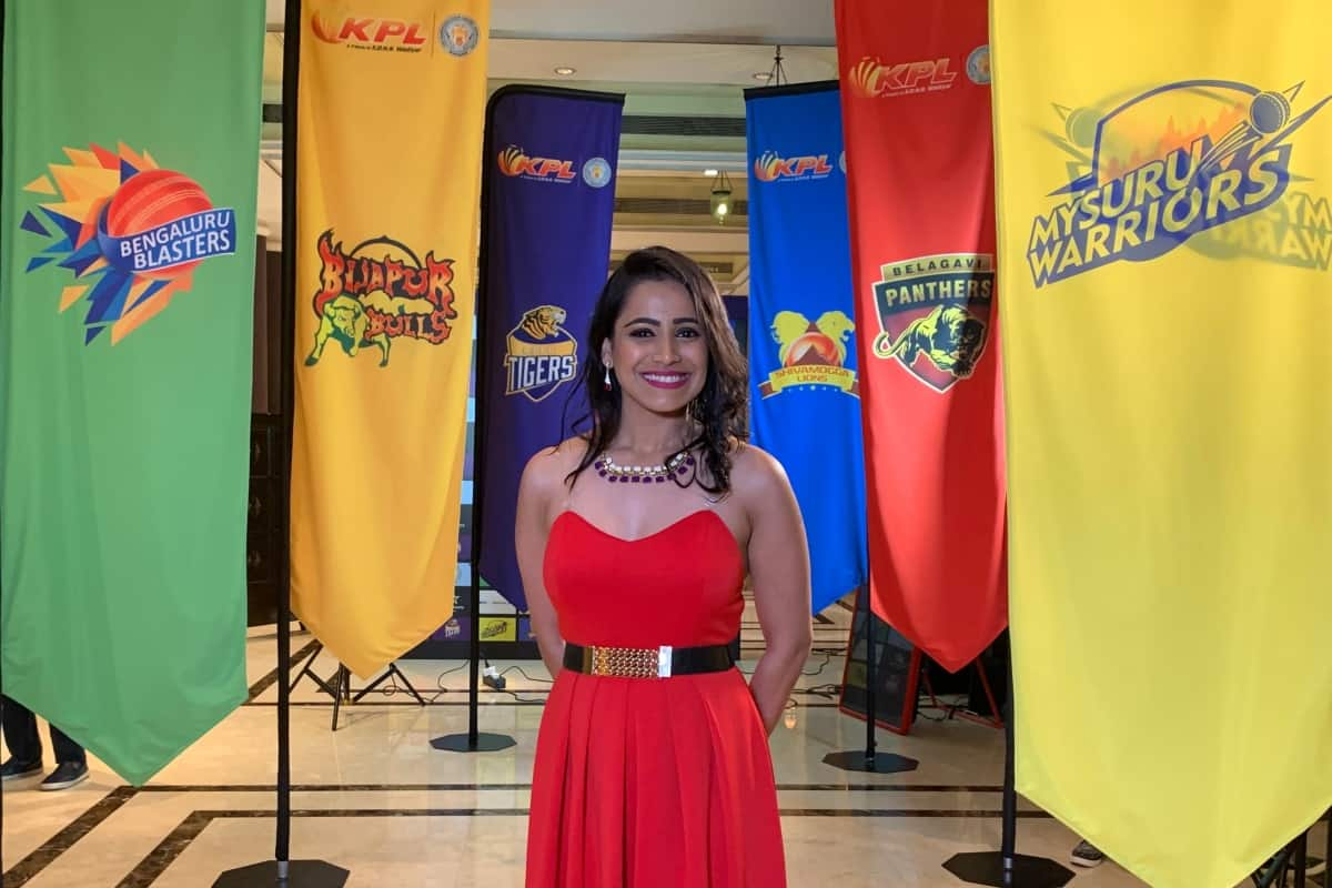 Star Sports Kannada Presenter Reena Dsouza hosts KPL Auction 2019