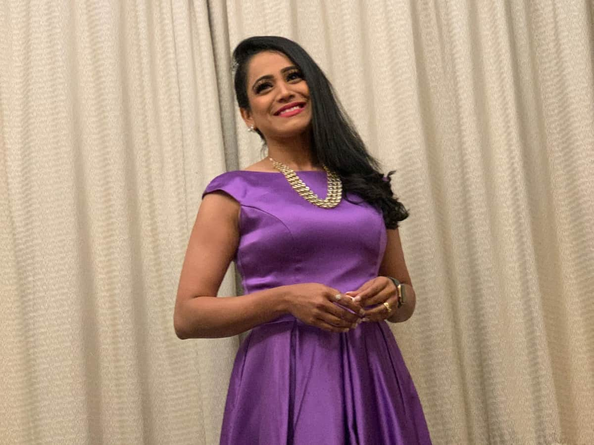 Corporate MC Reena Dsouza comperes Bharathi cement Dealers Meet 2019